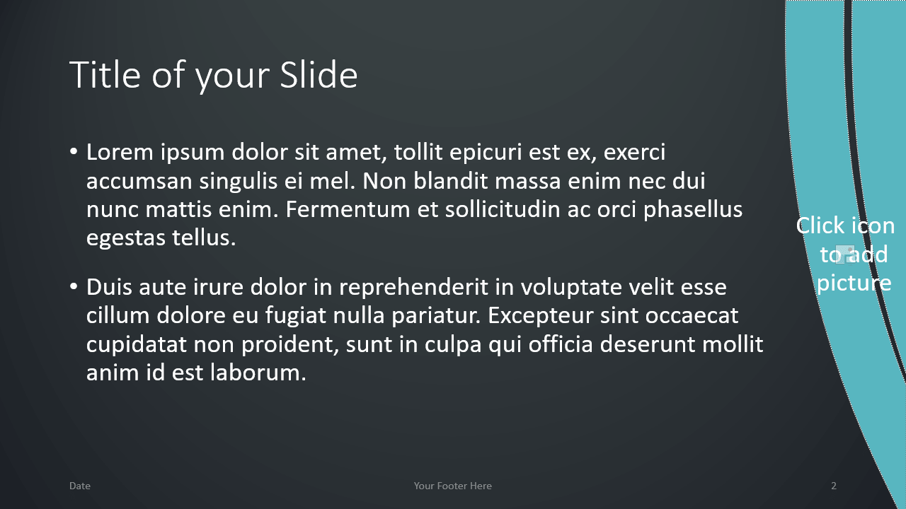Free Wavy Template for Google Slides – Title and Content Slide (Variant 1)