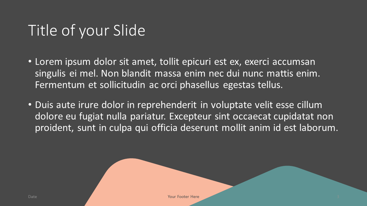 Free Abstract Rounded Corners Template for Google Slides – Title and Content Slide (Variant 2)