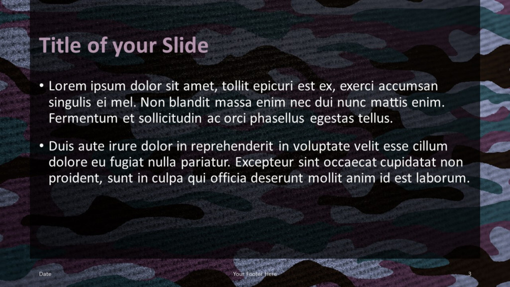 Free CAMO Template for Google Slides – Title and Content Slide (Variant 2)