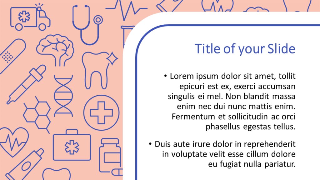 Free Medicons Medical Health Template for Google Slides – Title and Content Slide (Variant 2)