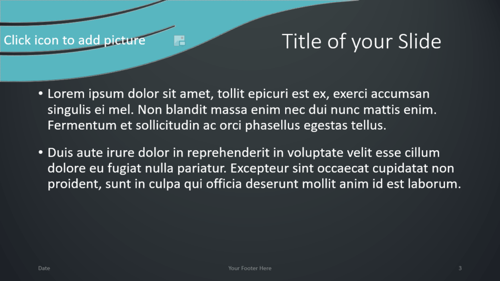 Free Wavy Template for Google Slides – Title and Content Slide (Variant 2)