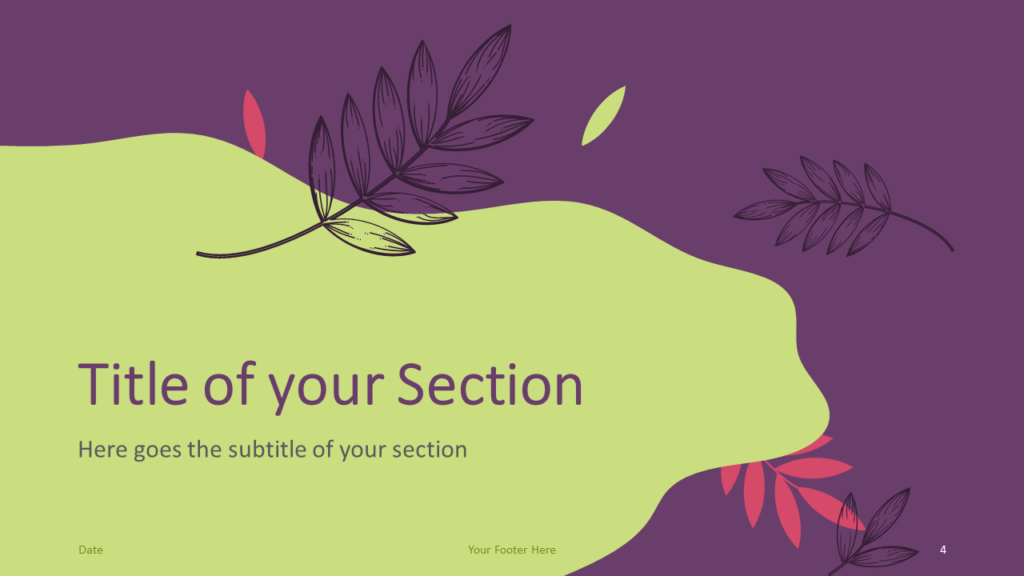 Free Sorbet Leaves Template for Google Slides – Section Slide (Variant 1)