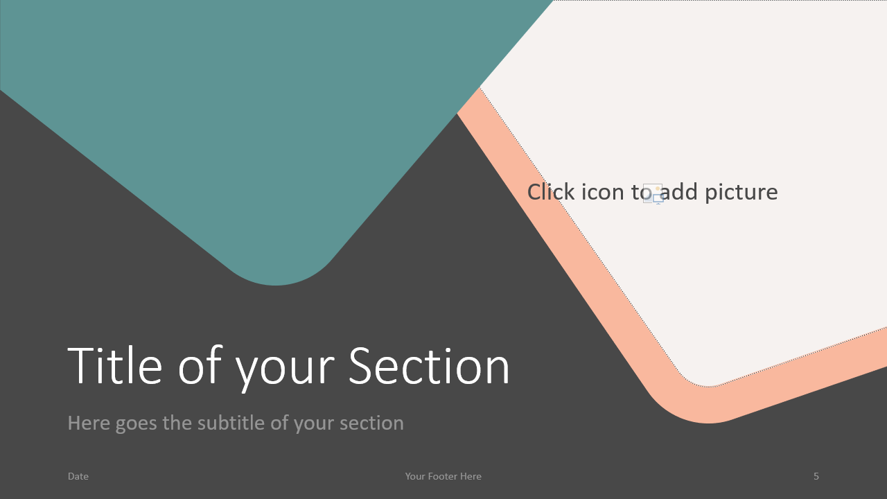 Free Abstract Rounded Corners Template for Google Slides – Section Slide (Variant 2)