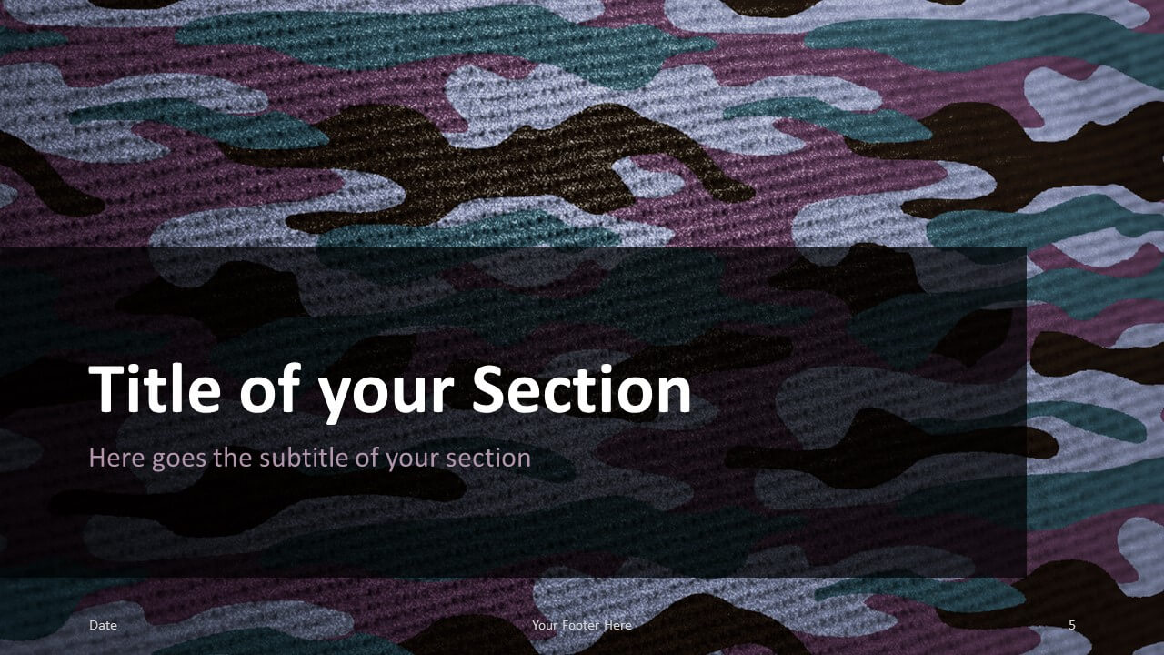Free CAMO Template for Google Slides – Section Slide (Variant 2)