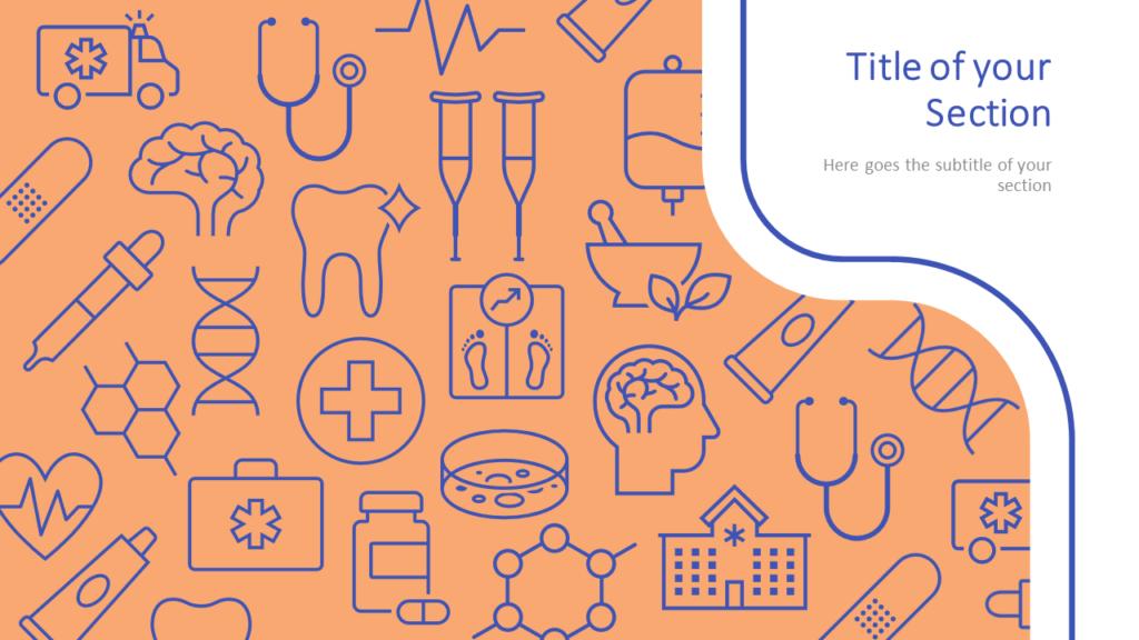 Free Medicons Medical Health Template for Google Slides – Section Slide (Variant 2)