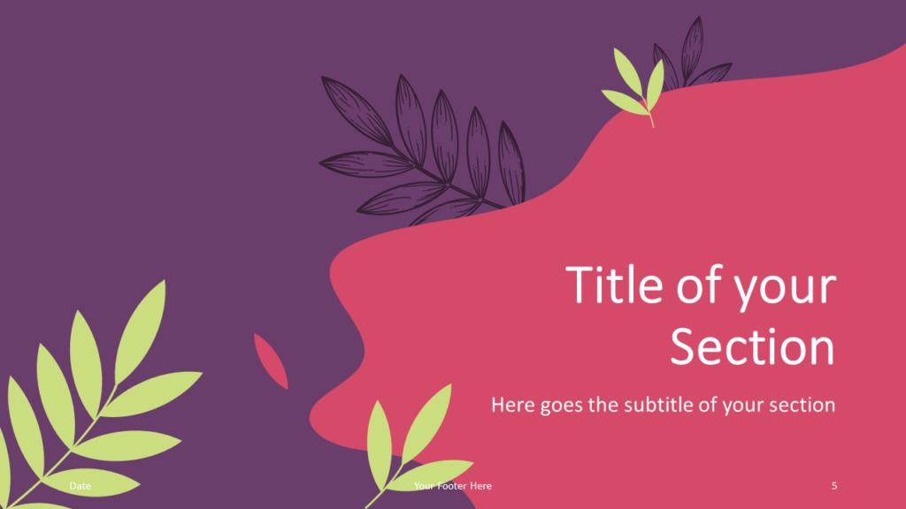 Free Sorbet Leaves Template for Google Slides – Section Slide (Variant 2)