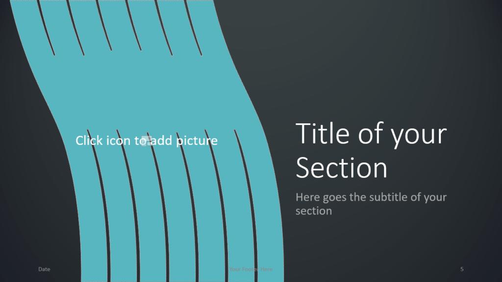 Free Wavy Template for Google Slides – Section Slide (Variant 2)