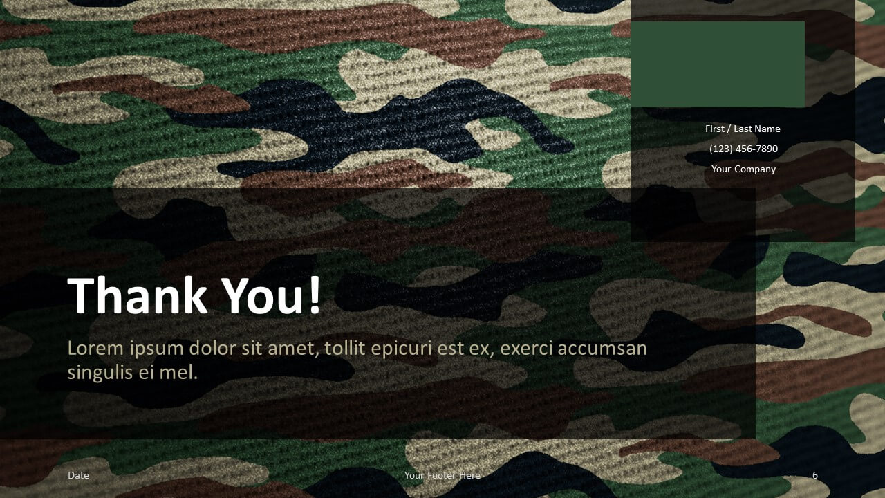 Free CAMO Template for Google Slides - Closing / Thank you