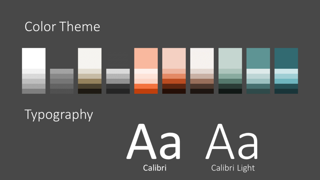 Free Abstract Rounded Corners Template for Google Slides – Colors and Fonts