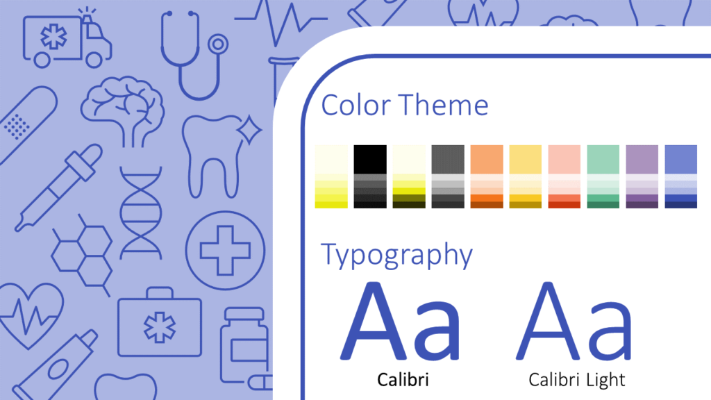 Free Medicons Medical Health Template for Google Slides – Colors and Fonts