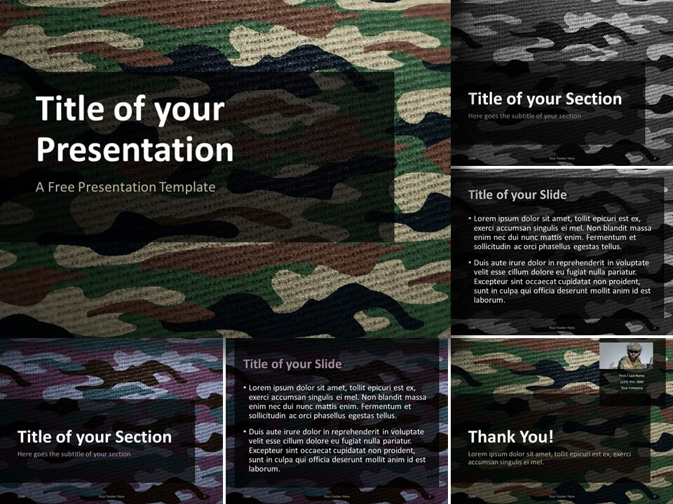 Free CAMO Template for PowerPoint and Google Slides
