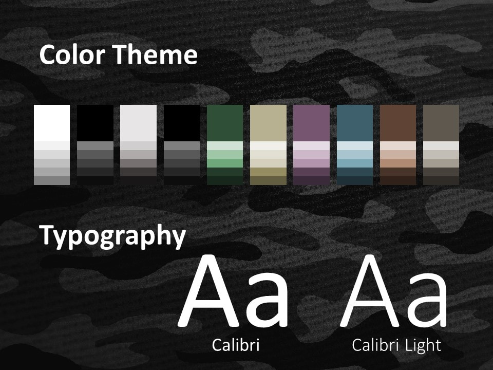 Free CAMO Template for PowerPoint – Colors and Fonts