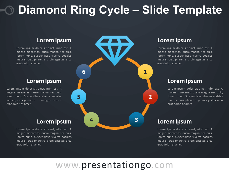Free Diamond Ring Cycle Infographic for PowerPoint