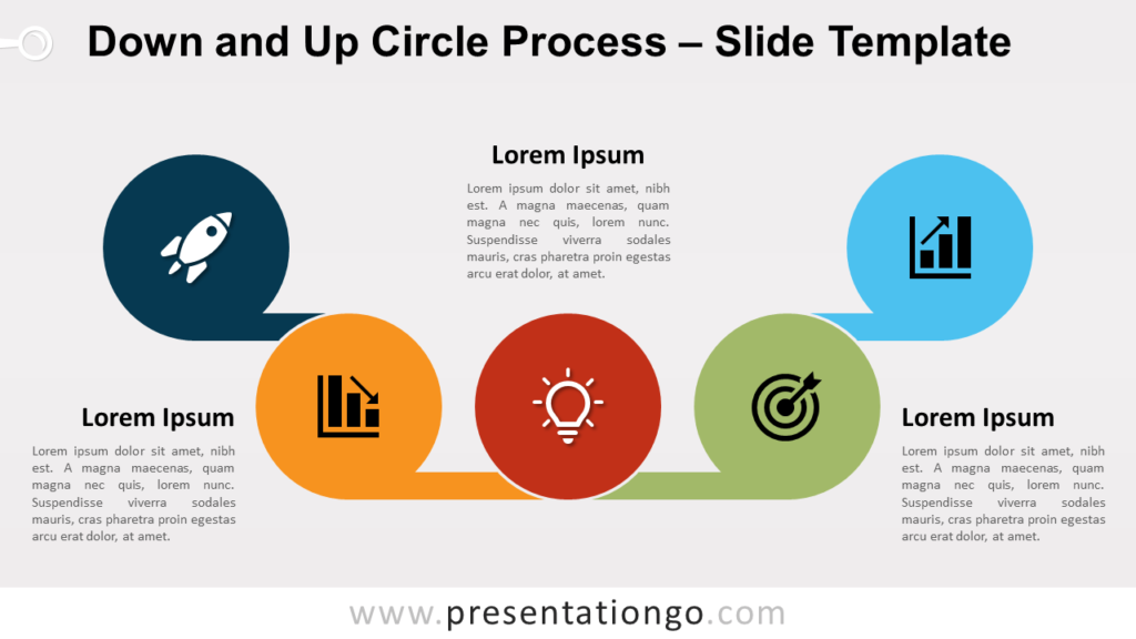 Free Down and Up Circle Process for PowerPoint and Google Slides
