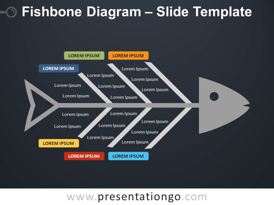 Free Fishbone Diagram Infographic for PowerPoint