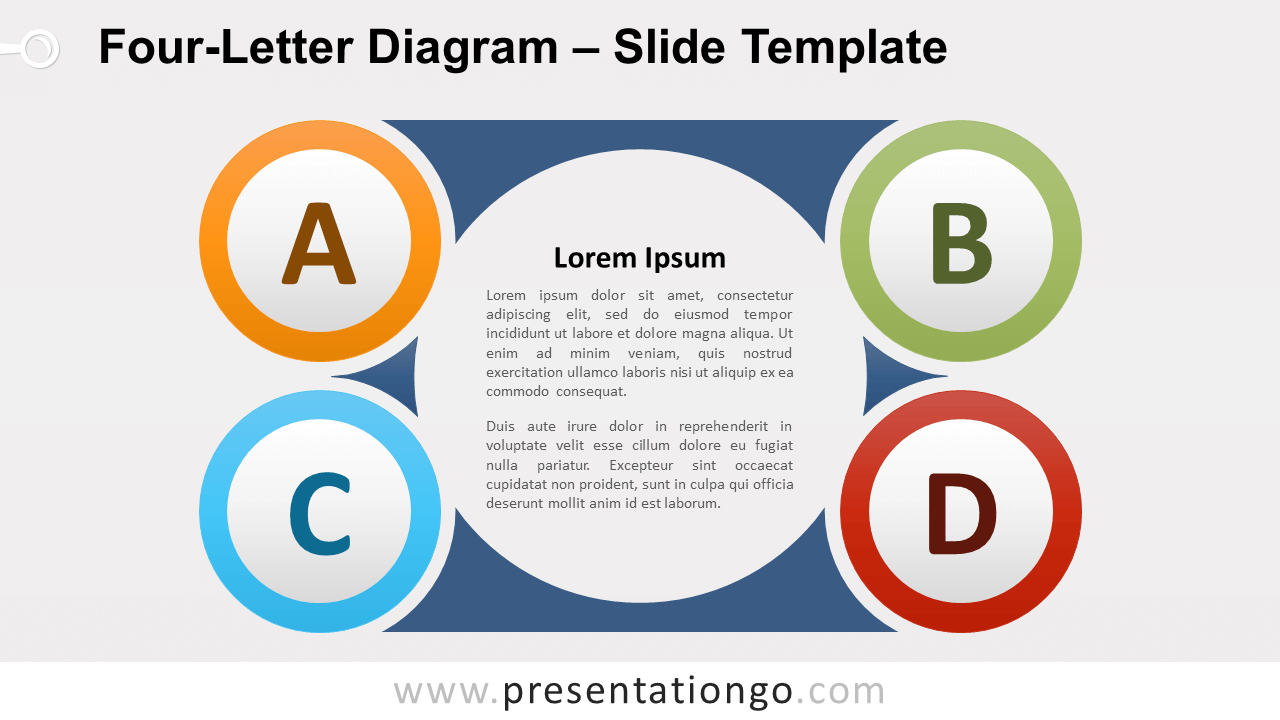 Free Four-Letter Diagram for PowerPoint and Google Slides