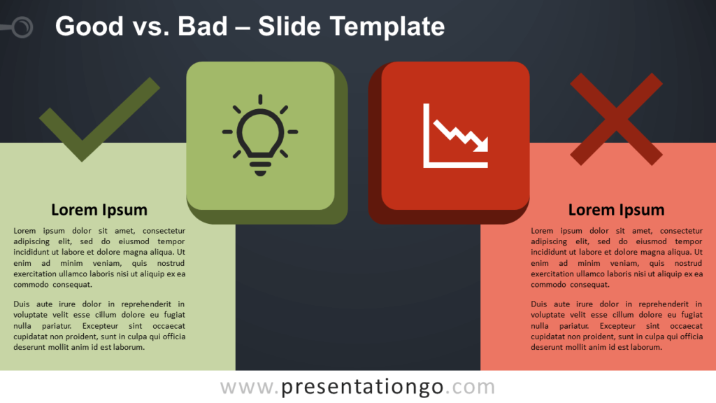 Free Good vs Bad Infographic for PowerPoint and Google Slides
