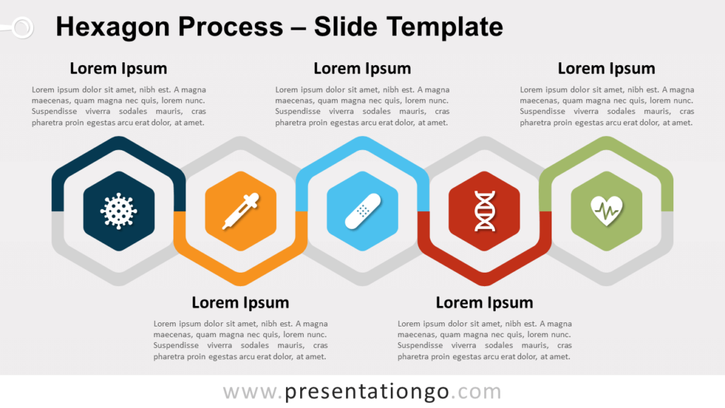 Free Hexagon Process for PowerPoint and Google Slides