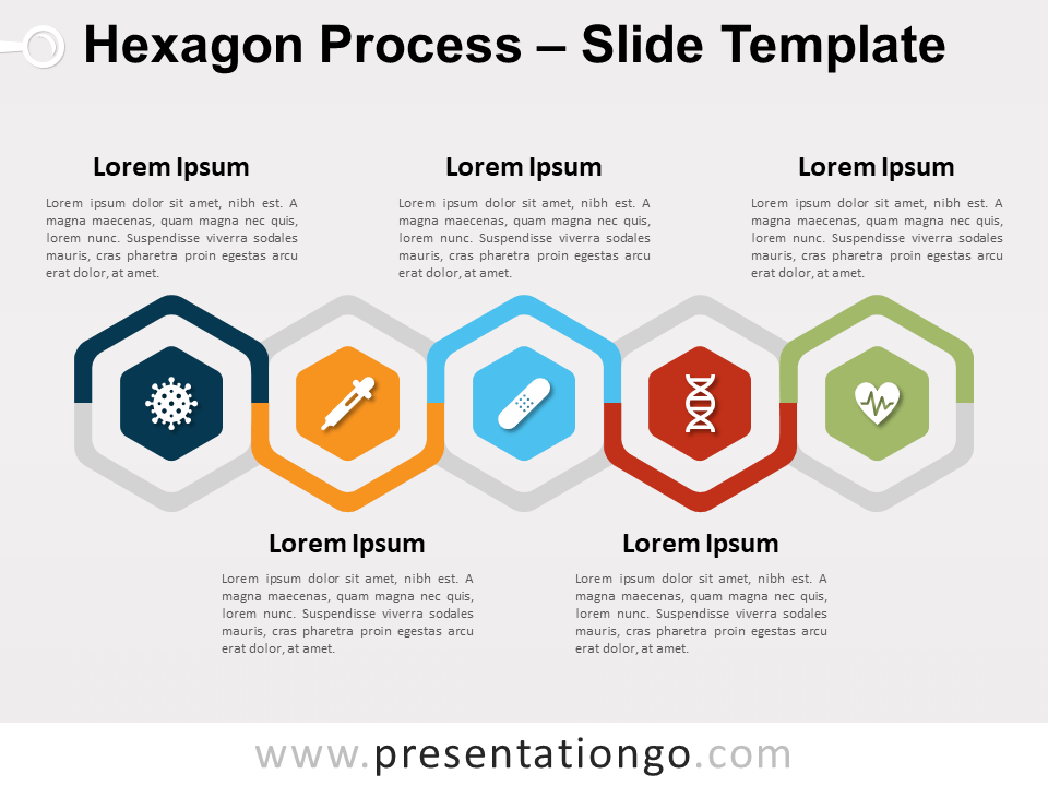 Free Hexagon Process for PowerPoint