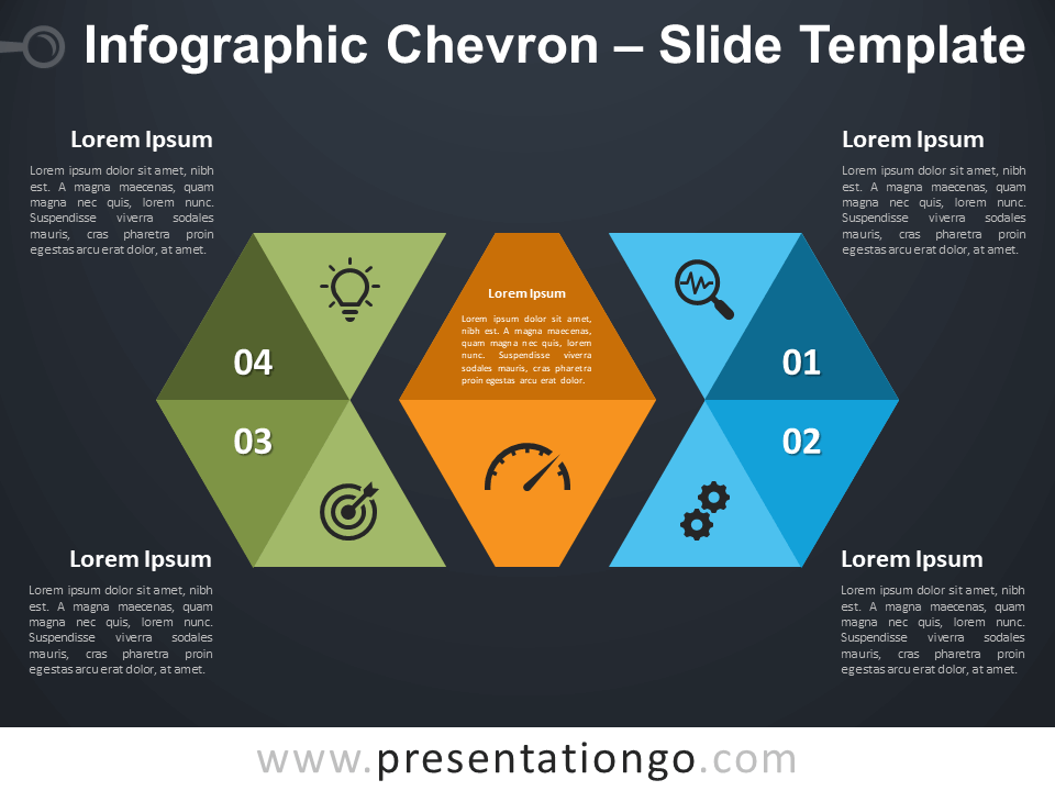 Free Infographic Chevron Diagram for PowerPoint