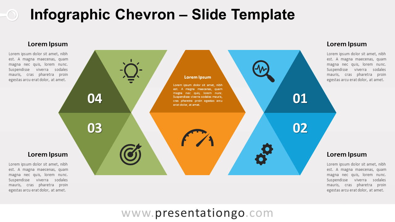 Free Infographic Chevron for PowerPoint and Google Slides