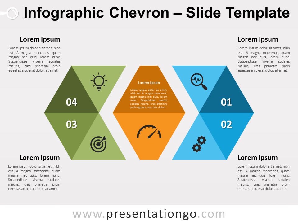 Free Infographic Chevron for PowerPoint