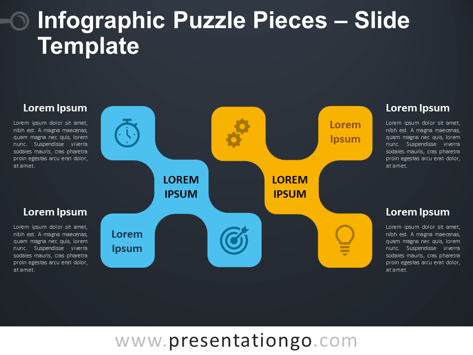 Free Infographic Puzzle Pieces Diagram for PowerPoint