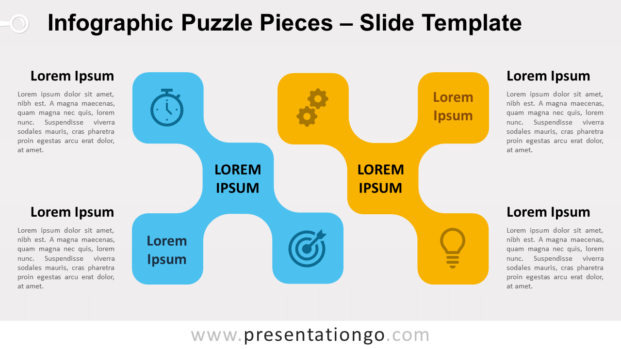 Free Infographic Puzzle Pieces for PowerPoint and Google Slides