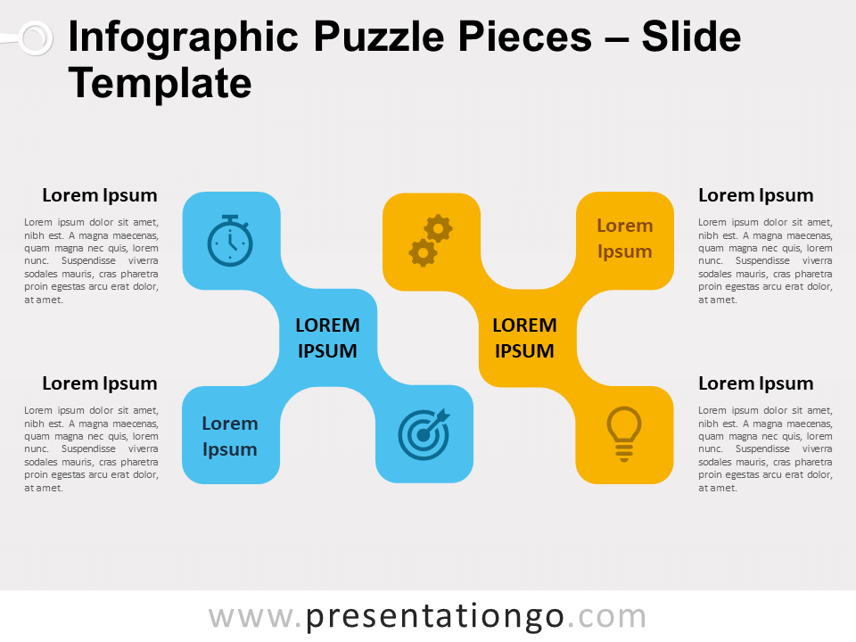 Free Infographic Puzzle Pieces for PowerPoint