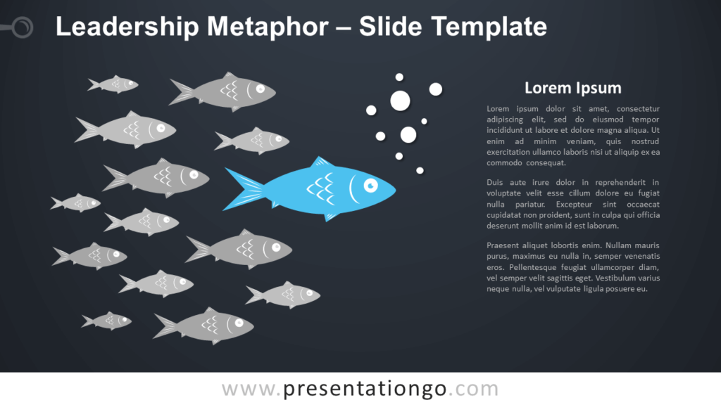 Free Leadership Metaphor Infographic for PowerPoint and Google Slides