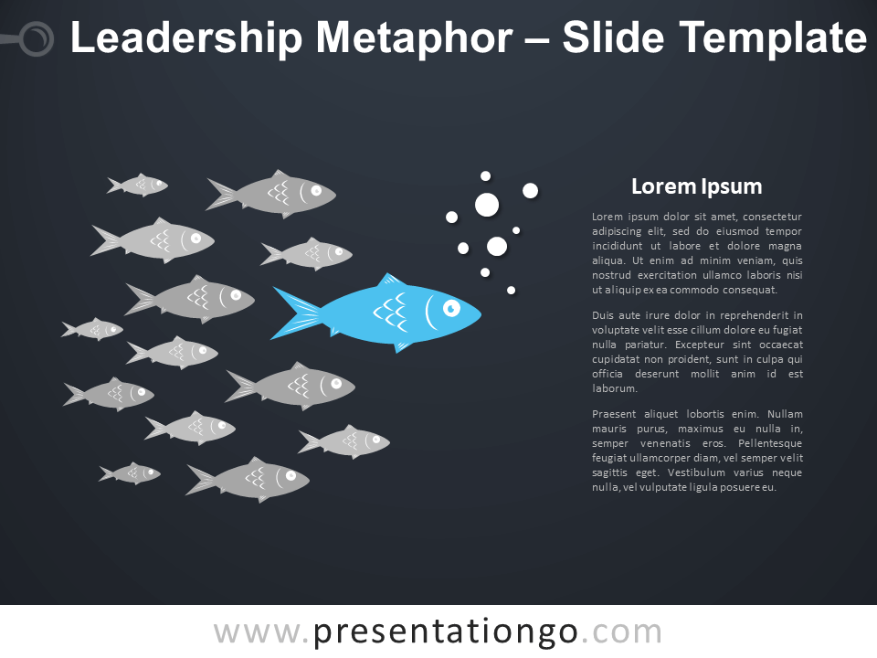 Free Leadership Metaphor Infographic for PowerPoint