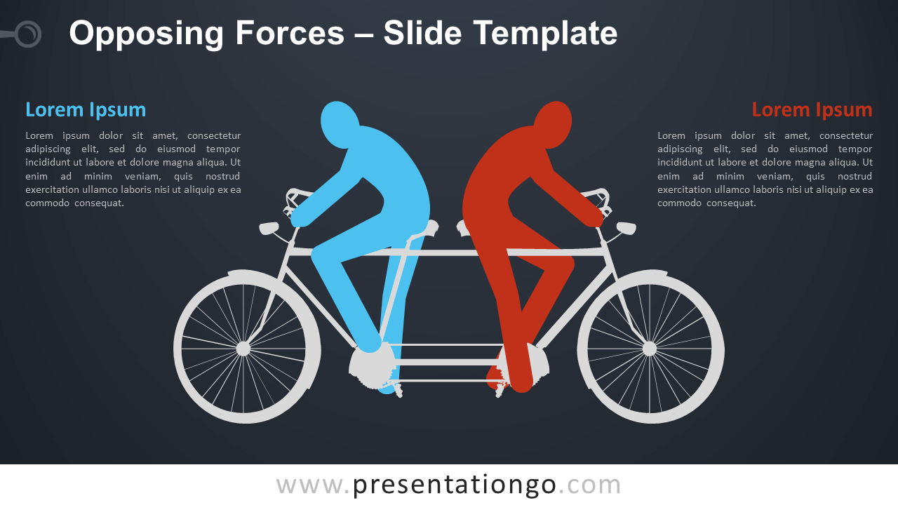 Free Opposing Forces Infographic for PowerPoint and Google Slides