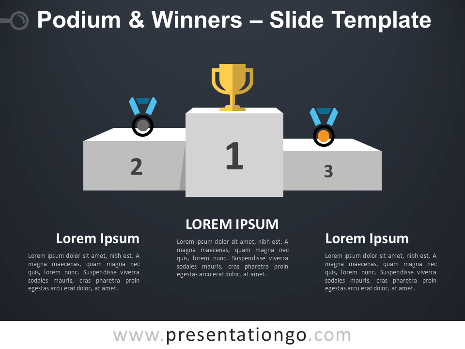Free Podium Winners Infographic for PowerPoint
