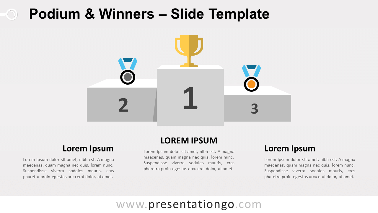 Free Podium Winners for PowerPoint and Google Slides