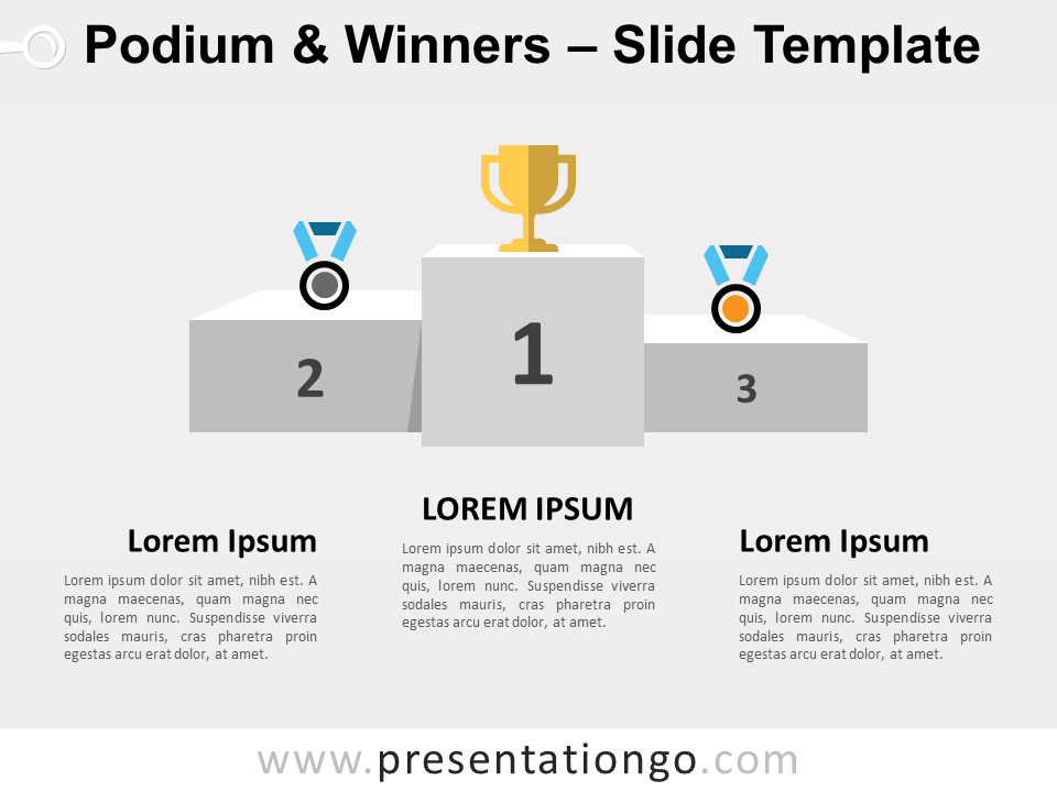 Free Podium Winners for PowerPoint