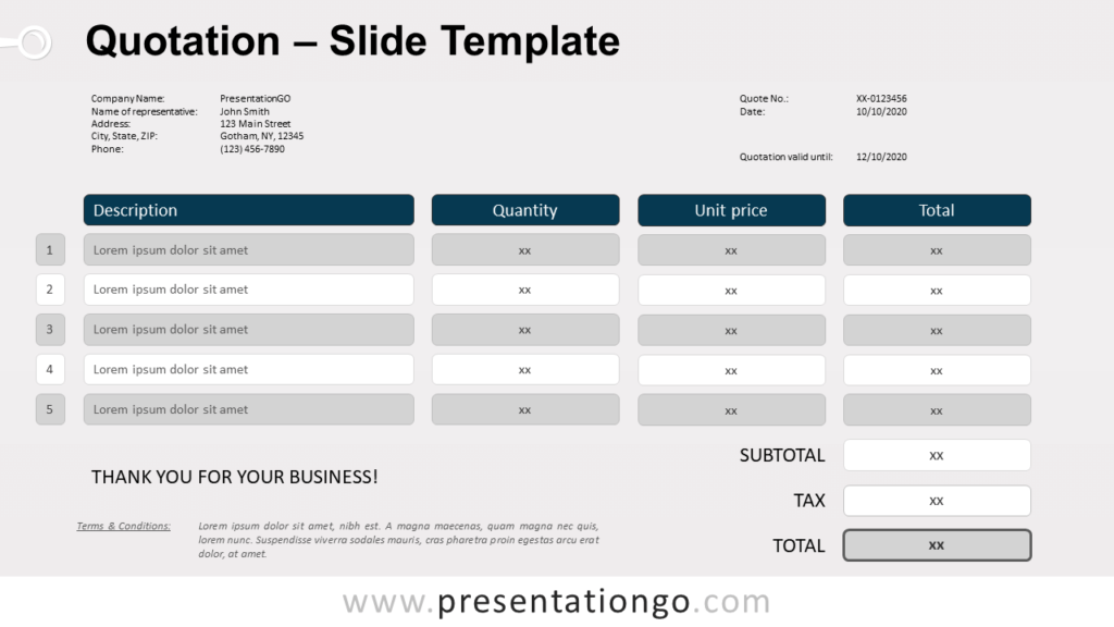 Free Quotation for PowerPoint and Google Slides