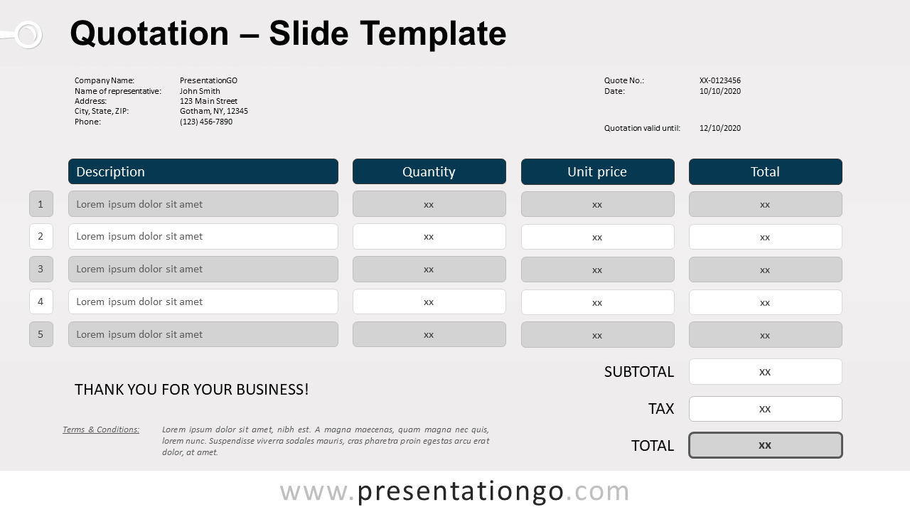 Free Quotation template for PowerPoint and Google Slides