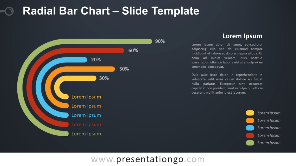 Free Radial Bar Chart Diagram for PowerPoint and Google Slides