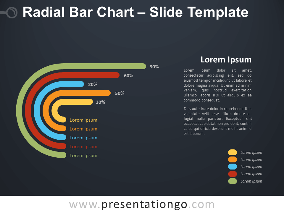 Free Radial Bar Chart Diagram for PowerPoint