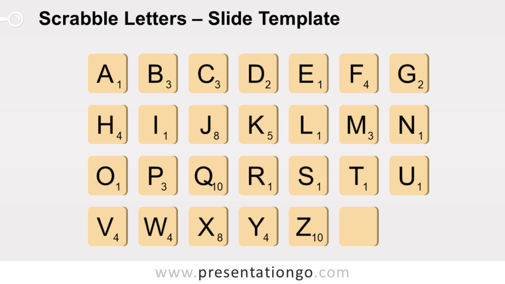 Free Scrabble Letters for PowerPoint and Google Slides
