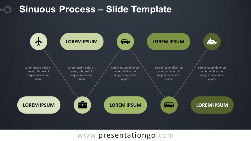 Free Sinuous Process Template for PowerPoint and Google Slides