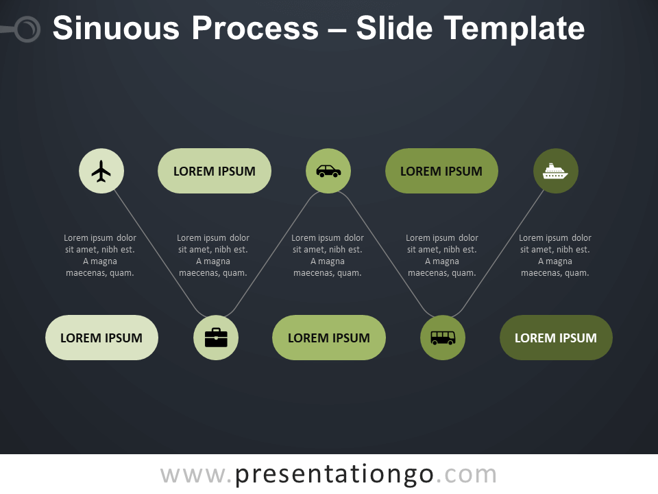 Free Sinuous Process Template for PowerPoint