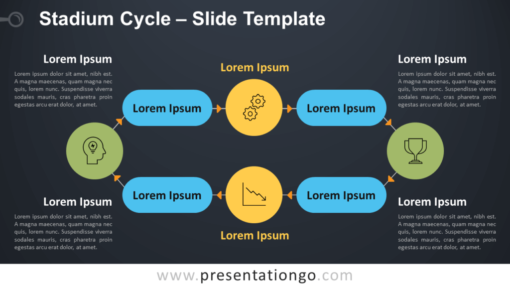 Free Stadium Cycle Infographic for PowerPoint and Google Slides