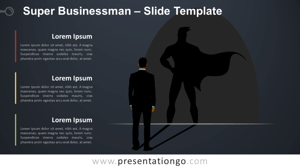 Free Super Businessman Infographic for PowerPoint and Google Slides