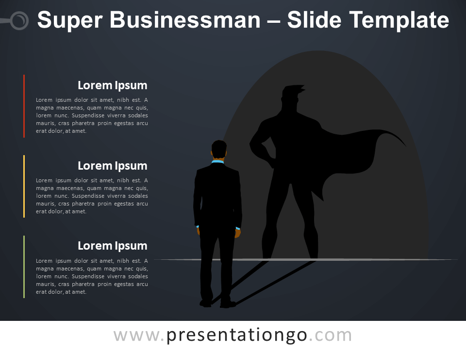 Free Super Businessman Infographic for PowerPoint