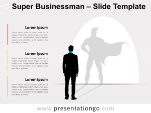 Free Super Businessman for PowerPoint