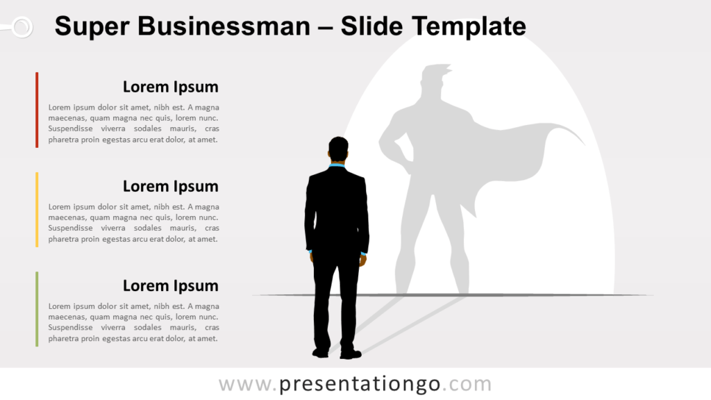 Free Super Businessman for PowerPoint and Google Slides