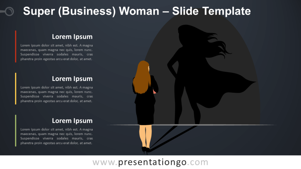 Free Super Businesswoman Infographic for PowerPoint and Google Slides