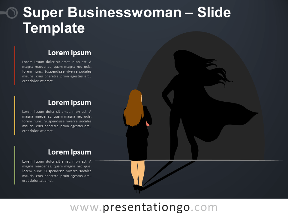 Free Super Businesswoman Infographic for PowerPoint