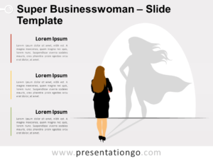 Free Super Businesswoman for PowerPoint